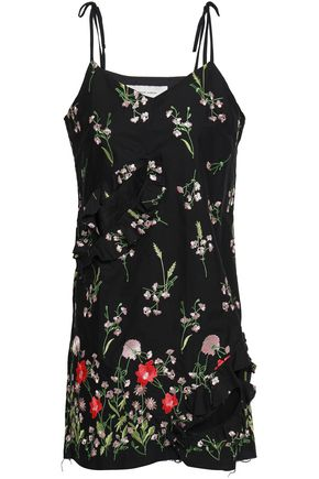 MARQUES' ALMEIDA Cutout embroidered cotton-blend mini dress