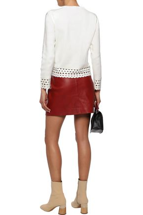 MAJE Mariade laser-cut stretch-knit sweater