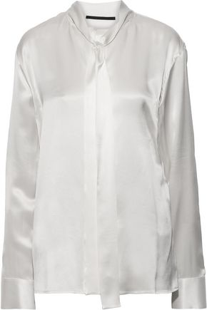 HAIDER ACKERMANN Pussy-bow silk-satin shirt