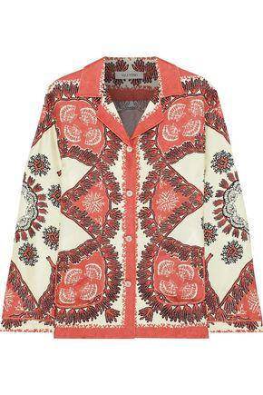 VALENTINO Printed silk-twill shirt