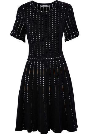 OSCAR DE LA RENTA Flared cotton-blend jacquard mini dress