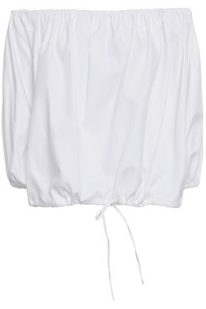 MARQUES' ALMEIDA Off-the-shoulder cotton-twill blouse