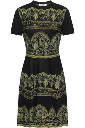 VALENTINO Jacquard-knit dress