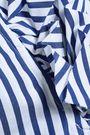 MARQUES' ALMEIDA Off-the-shoulder striped cotton-poplin shirt