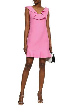 20dc5696 Ruffled wool and silk-blend mini dress | VALENTINO | Sale up to 70 ...