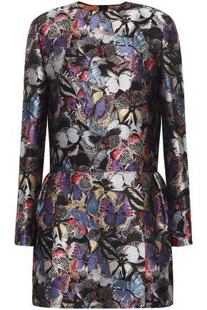 VALENTINO Flared silk-blend jacquard mini dress