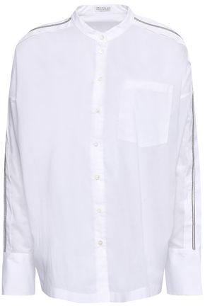 BRUNELLO CUCINELLI Bead-embellished cotton shirt