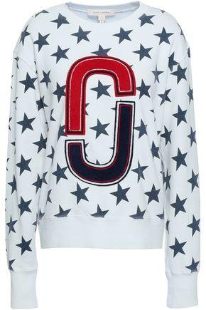 MARC JACOBS Appliquéd printed French cotton-terry sweatshirt
