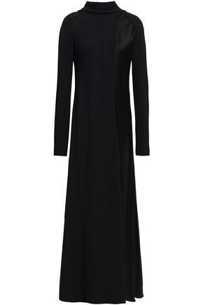 HAIDER ACKERMANN Satin-crepe turtleneck maxi dress