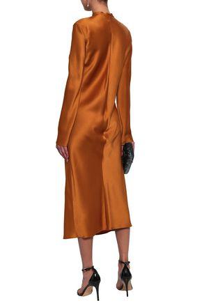 HAIDER ACKERMANN Satin-crepe midi dress