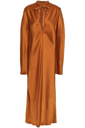 HAIDER ACKERMANN Satin-crepe midi dress