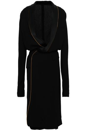 HAIDER ACKERMANN Satin-crepe wrap dress
