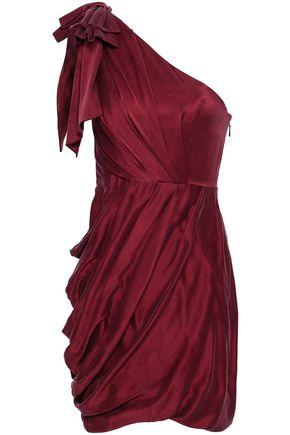 ZIMMERMANN One-shoulder draped washed-silk mini dress
