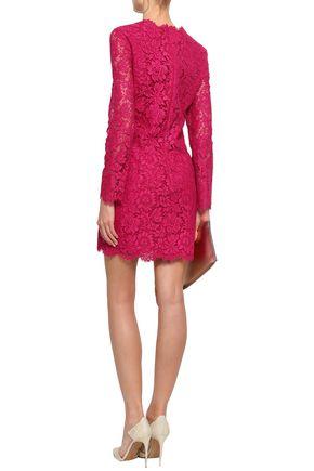 VALENTINO Cotton-blend corded lace mini dress