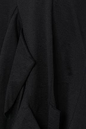 MARQUES' ALMEIDA Asymmetric ruffled cotton-jersey top