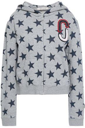 MARC JACOBS Appliquéd printed cotton hooded jacket