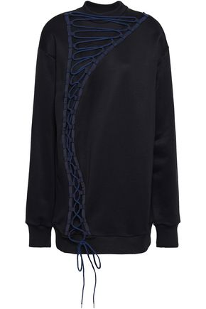 MARQUES' ALMEIDA Lace-up French cotton-blend terry sweatshirt