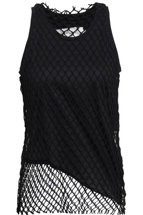 MARQUES' ALMEIDA Layered cotton-jersey and macramé tank