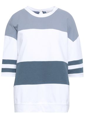 BRUNELLO CUCINELLI Striped French cotton-blend terry sweatshirt
