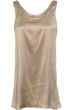 BRUNELLO CUCINELLI Open-back satin top
