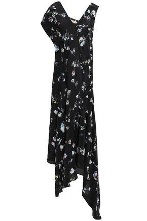 PREEN LINE Dana asymmetric floral-print crepe de chine midi dress