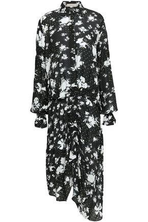 PREEN LINE Bonna asymmetric floral-print crepe de chine midi dress