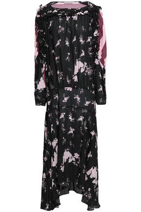 PREEN LINE Sora paneled printed crepe de chine maxi dress