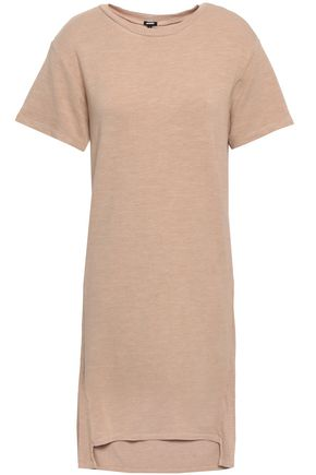 MONROW French terry and ribbed jersey mini dress