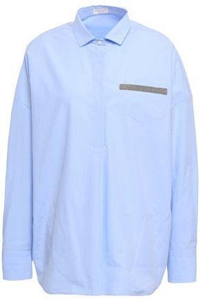 BRUNELLO CUCINELLI Embellished cotton-poplin shirt