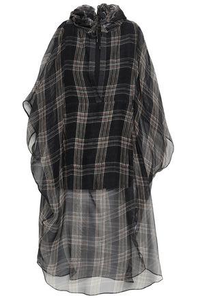 BRUNELLO CUCINELLI Checked silk-voile tunic
