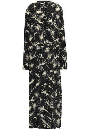 HAIDER ACKERMANN Printed silk crepe de chine maxi dress