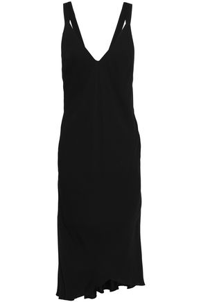 HAIDER ACKERMANN Open-back crepe midi dress
