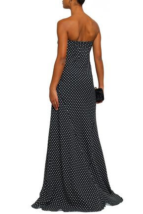 HAIDER ACKERMANN Asymmetric polka-dot crepe maxi dress