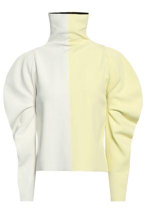 HAIDER ACKERMANN Two-tone stretch-knit turtleneck top