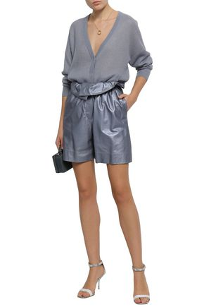 BRUNELLO CUCINELLI Metallic leather shorts
