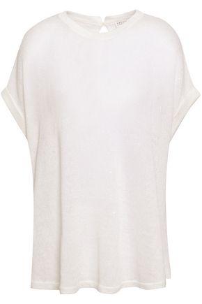 BRUNELLO CUCINELLI Linen and silk-blend sweater