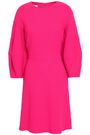 OSCAR DE LA RENTA Wool-blend crepe dress