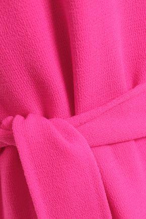 OSCAR DE LA RENTA Virgin wool-blend crepe dress