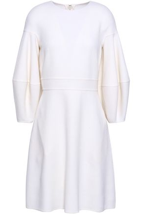 OSCAR DE LA RENTA Virgin wool-blend crepe dress