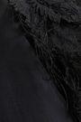 BRUNELLO CUCINELLI Layered feather-trimmed stretch-silk organza T-shirt