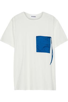 JIL SANDER Shell-appliquéd cotton-jersey T-shirt