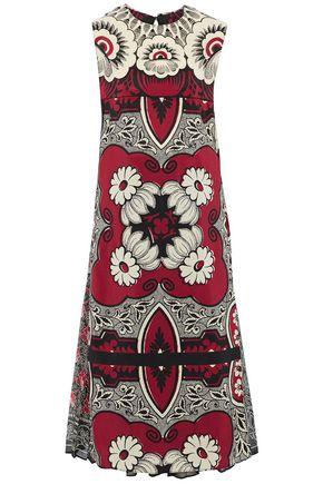 VALENTINO Printed silk crepe de chine midi dress
