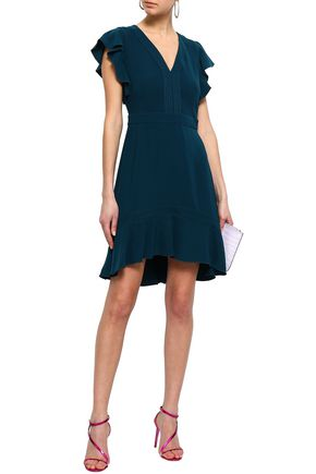 RACHEL ZOE Uma ruffle-trimmed crepe mini dress