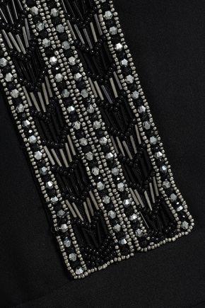 RACHEL ZOE Dena ruffle-trimmed embellished crepe mini dress