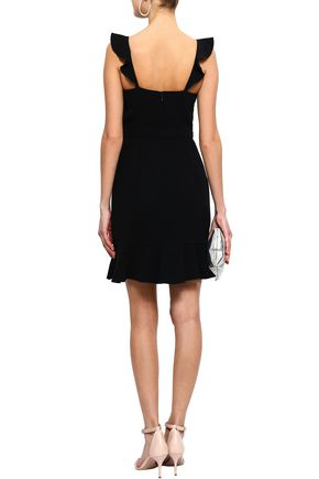 RACHEL ZOE Michele ruffle-trimmed crepe mini dress
