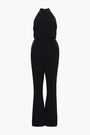 RACHEL ZOE Lou sequin-trimmed stretch-crepe jumpsuit