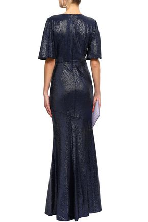 RACHEL ZOE Heather sequined jersey gown