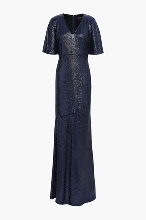 RACHEL ZOE Heather sequined stretch-jersey gown