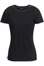 VALENTINO Spiked cotton-jersey T-shirt