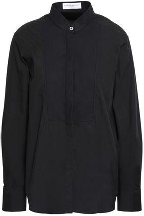 AMANDA WAKELEY Paneled cotton-poplin and piqué shirt
